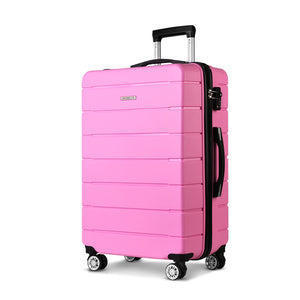 "Wanderlite 28"" Suitcase Luggage Pink"
