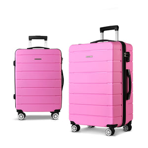 Wanderlite 2PC Luggage Suitcase Trolley - Pink