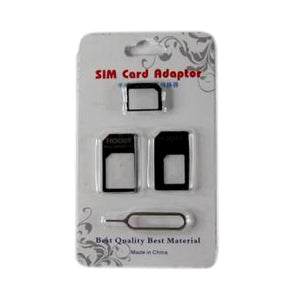 3 in 1 Sim Card Adaptor with Opening Pin