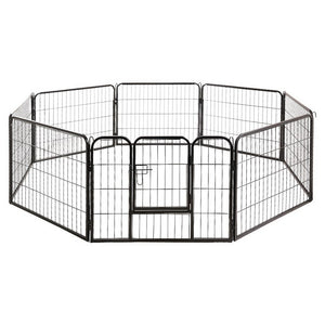 i.Pet 8 Panel Pet Dog Playpen Exercise Enclosure Fence Portable
