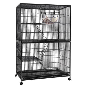 i.Pet 4 Level Rabbit Cage Bird Ferret Parrot Aviary Cat Hamster Castor 142cm