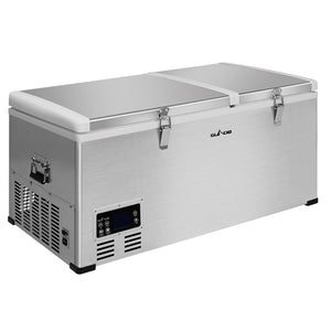 Glacio 85L Portable Fridge Freezer Fridges Refrigerator Cooler Camping 12V/24V/240V Caravan Car Boating Silver