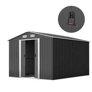 GIANTZ Garden Shed Workshop Shelter Metal Tool 2.6x3.9x2M