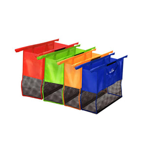 Set of 4 Shopping Trolley Bags System Reusable Shopping Bags