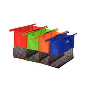 Set of 4 Reusable Shopping Trolley Bag System