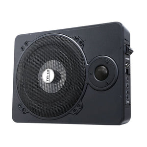 600W Black Car Subwoofer 10 Inch Ultra-Thin Speaker Audio Amplifier Under-Seat