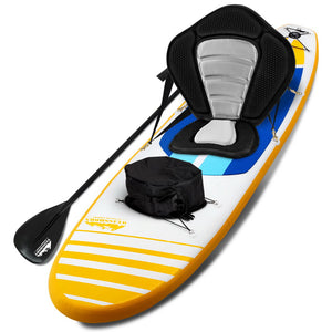 "Weisshorn Stand Up Paddle Boards 11"" Inflatable SUP Surfboard Paddleboard Kayak Seat Yellow"