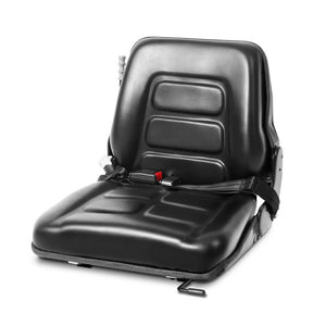 Giantz Universal Forklift Seat Tractor Excavator Truck Bobcat Leather Backrest