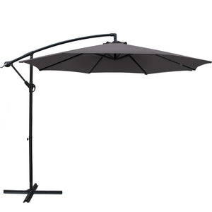 Instahut 3M Outdoor Furniture Garden Umbrella Charcoal