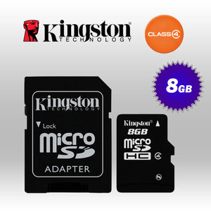 kingston 8GB Micro SD Class 4 with standard SD adaptor (KINSDC4/8GB)