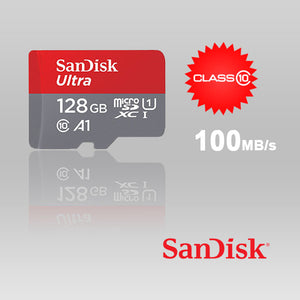 SANDISK SDSQUAR-128G-GN6MA Micro SDHC Ultra A1 Class 10 100mb/s with SD adapter