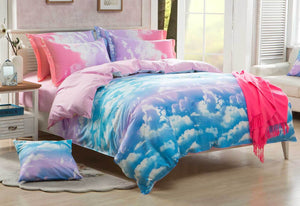 Single Size Clouds Blue Sky Quilt Cover Set (2PCS)