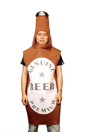 Beer Bottle One Size Fits all Adults Costume