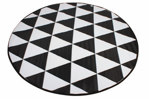 Outdoor Pp Mat Weatherproof Triangle Round Dia. 200cm
