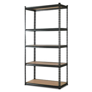 Giantz 5 Tier Shelving Unit - Chacoal
