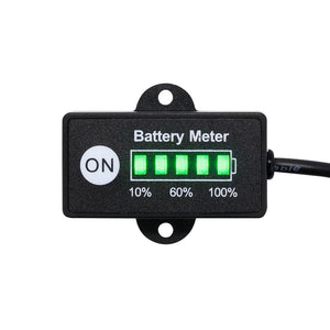 12 Volt LED Dual Battery Monitor Fuel Gauge Meter Digital % Percentage Switch
