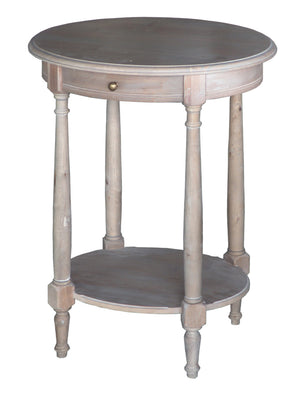 Wash White Louis XVI Oval Lamp Table