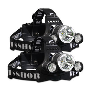Weisshorn Set of 2 Modes LED Flash Torch Headlamp