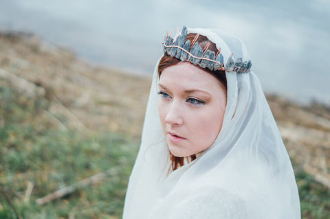 MoonDome crystal crown // Bohemian head wear // Mermaid of the Lake