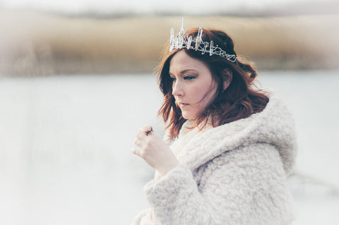 MoonDome crystal crown // Bohemian head wear