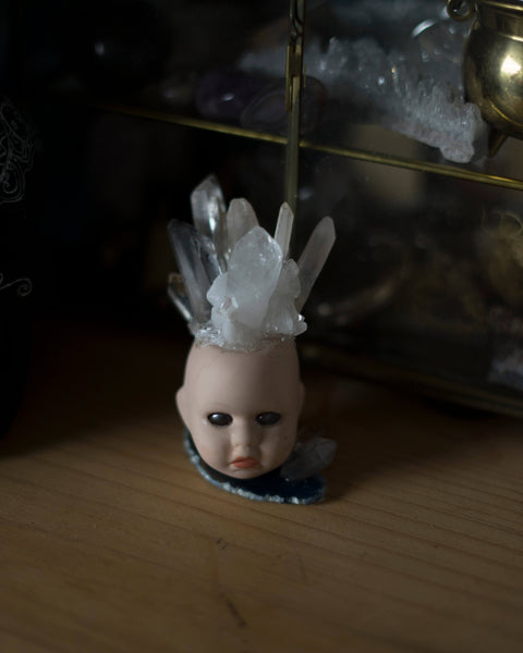 Altar crystal doll head
