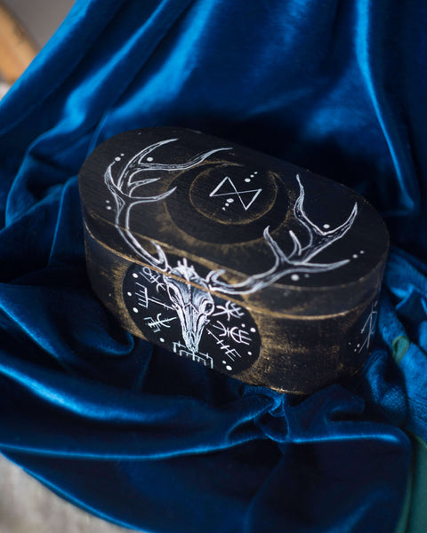 Viking Scandinavia handpainted box