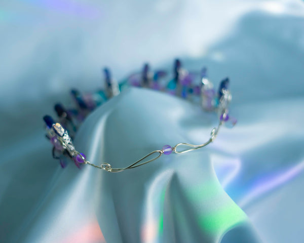Dana Silver Purple fairy wings crown