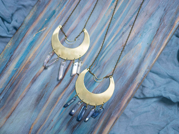 Bohemia Moon large  brass pendant - MoonDome - 1