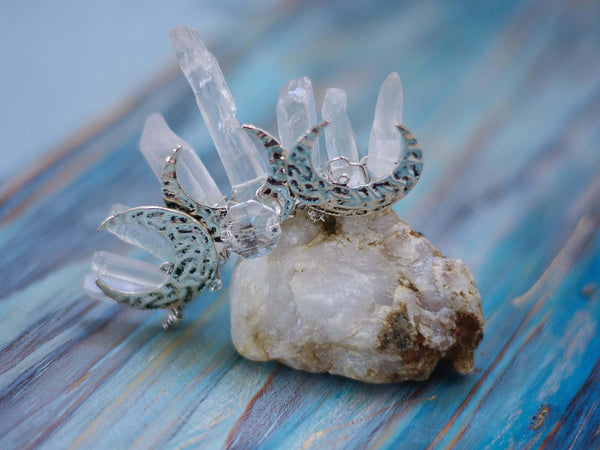 Moon Cult mini silver crown with quartz points - MoonDome - 3