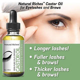 Pure organic Castor Oil for Beautiful Lush Eyelashes & Eyebrows 5 set of brushes included
