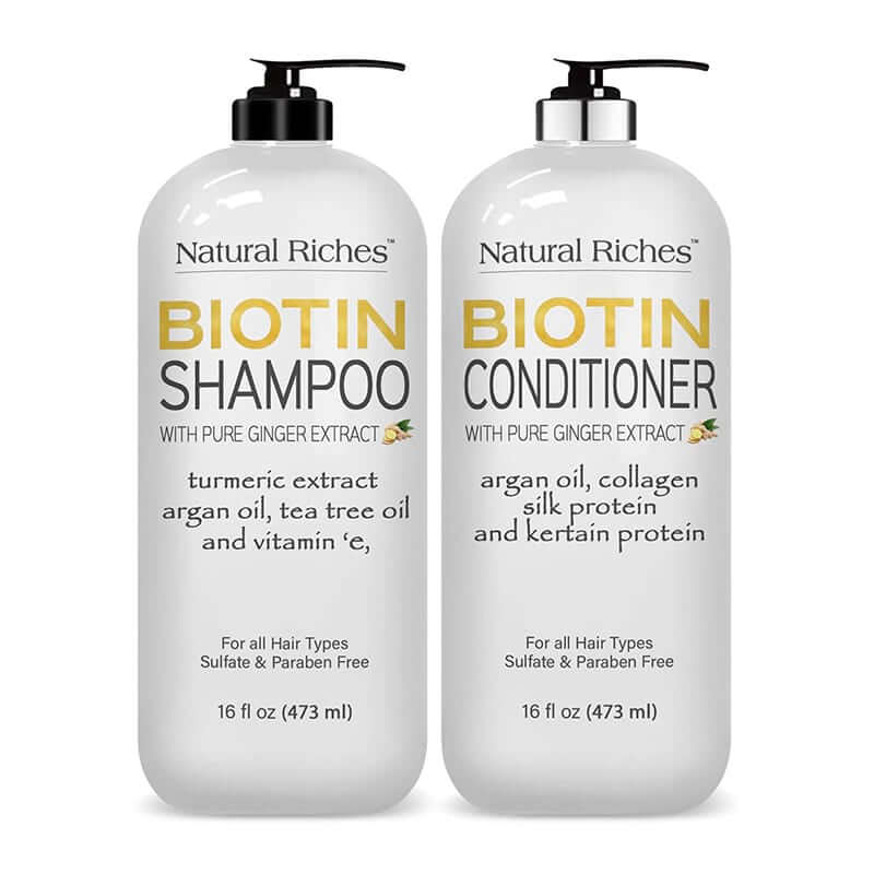 Biotin Shampoo and Conditioner Set