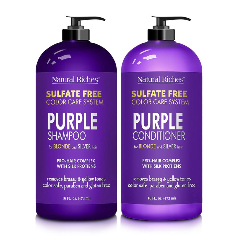 Purple Shampoo and Conditioner 2x16 oz bottles