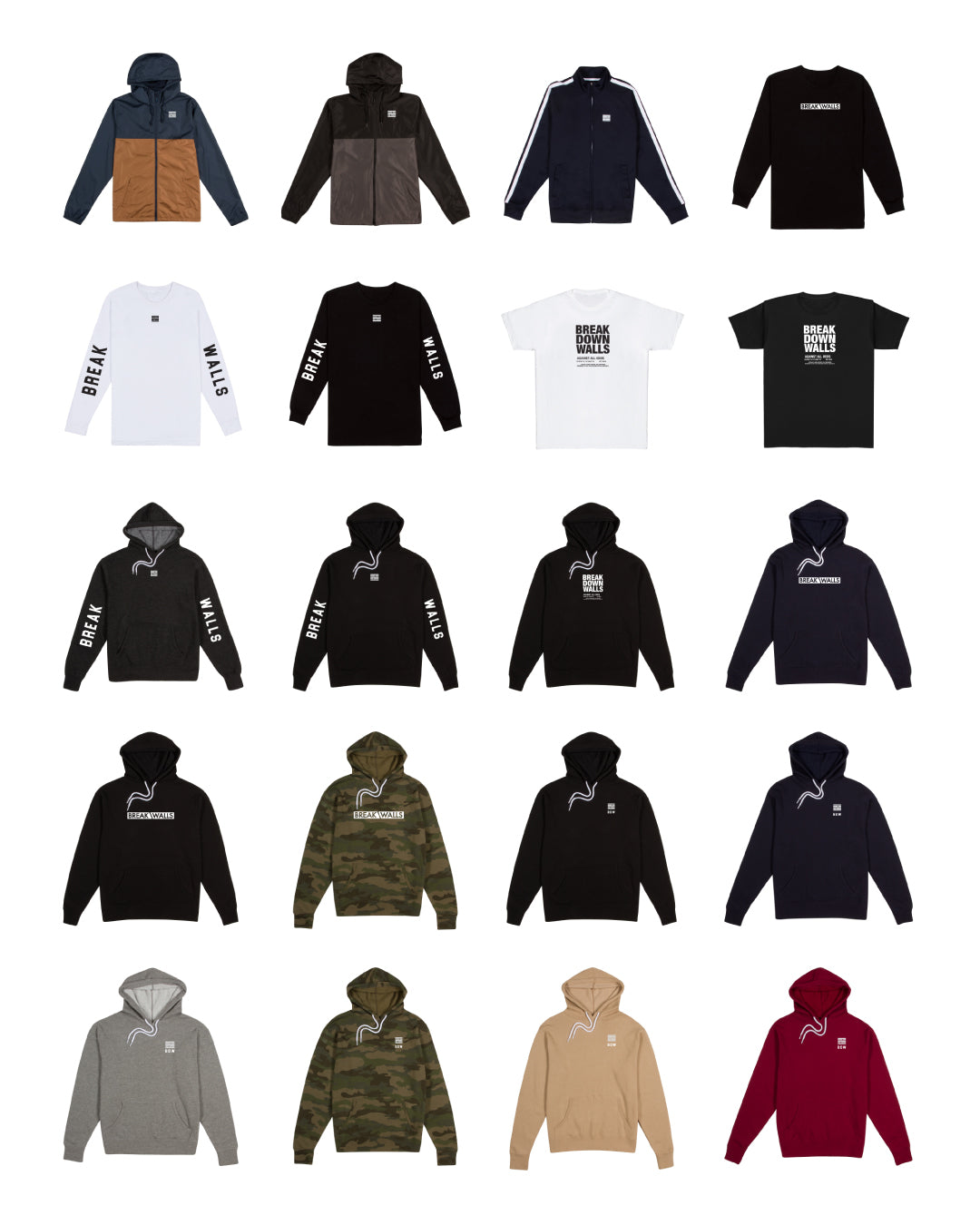 Break Down Walls Clothing Fall / Winter 2018 Collection