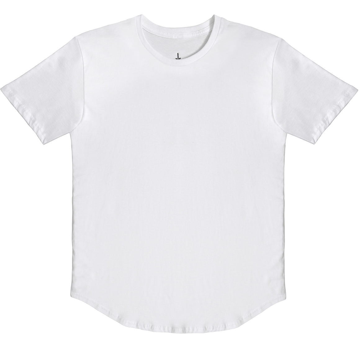 Essential Scallop Tee - White