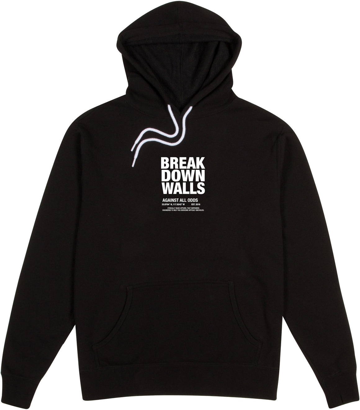 Against All Odds Hoodie  - Black