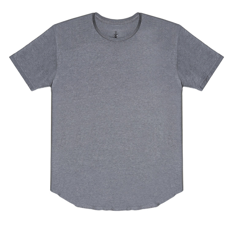 Essential Scallop Tee - Grey