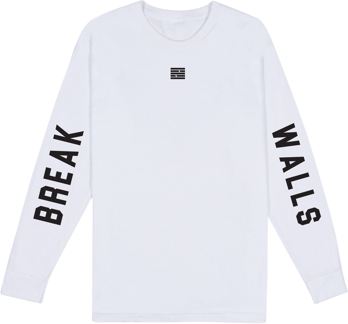 Graphic Logo Long Sleeve Tee - White
