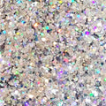 Silver Linings Holographic Silver - Loose Glitter Makeup For Face Body And Hair