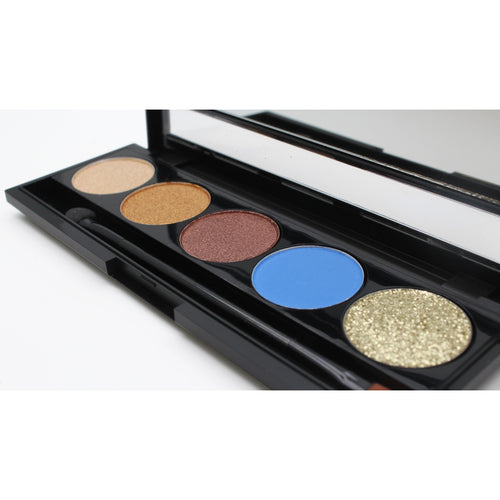 Santorini Gold Blue 5 piece Eyeshadow Palette