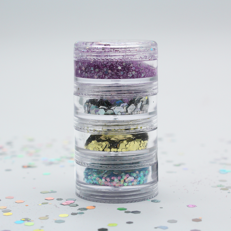 Unicorn Poop Chunky Loose Glitter Stacker