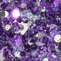 Unicorn Poop Face Body and Hair Glitter Mix Lunaria Purples Lilacs