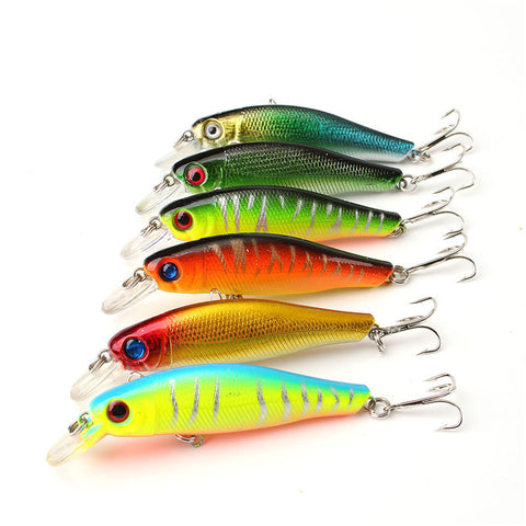 6pcs/lot Colorful 8.5CM/8.5G 3D Fish Eyes Fishing Lure Artificial Minnow Hard baits tackle with Hooks Reflective Fake Bait , Catch Tracker - CatchTracker by FishingNotes | Fishing Reports | Tackle Warehouse