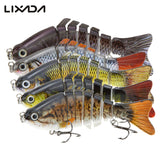 LIXADA Fishing Wobblers Lifelike 7 Segment Swimbait Crankbait Hard Bait Fishing Lure 10cm 15g Isca Artificial Fishing Tackle , Catch Tracker - CatchTracker by FishingNotes | Fishing Reports | Tackle Warehouse