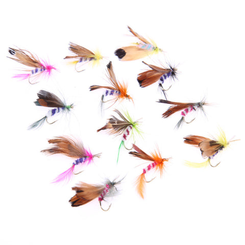 Hot Selling 12pcs/lot Fly Fishing Lure Set Style Insect Artificial Fishing Bait Feather Single Hooks Carp Fish Lure , Catch Tracker - CatchTracker by FishingNotes | Fishing Reports | Tackle Warehouse