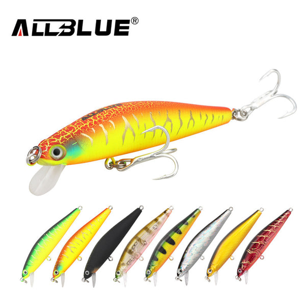 ALLBLUE New Minnow 70mm 6.5g 0.5-1M Dive Artificial Bait Plastic Hard 3D Eyes Fishing Lures Wobbler Fishing Bait Fishing Tackle , Catch Tracker - CatchTracker by FishingNotes | Fishing Reports | Tackle Warehouse