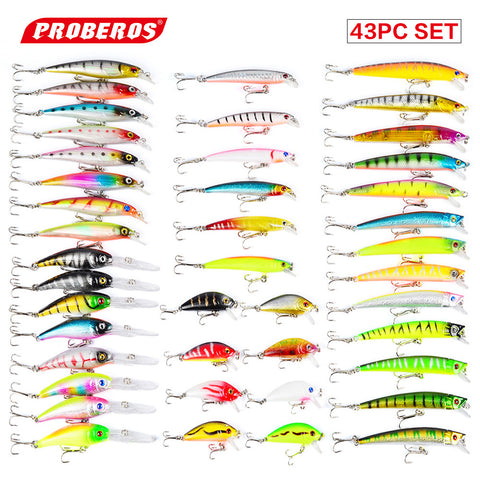 Hot 43pcs/lot fishing lure Set Mixed 6 models fishing tackle 43 color Minnow lure Crank Lures Mix fishing bait DWMI006 , Catch Tracker - CatchTracker by FishingNotes | Fishing Reports | Tackle Warehouse