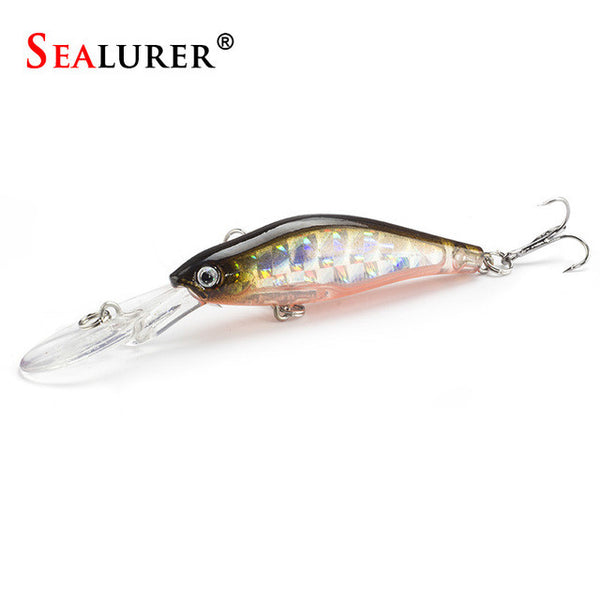 SEALURER 1Pcs  Laser  Wobblers Fishing Tackle 3D Eyes Sinking Minnow Fishing Lure Crankbait 6# hook , Catch Tracker - CatchTracker by FishingNotes | Fishing Reports | Tackle Warehouse