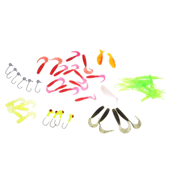 Fishing Lure Set 35Pcs Soft Worm Fishing Baits 10Lead Jig Head Hooks Sets / 50Pcs 50mm soft Lures Wholesale Drop Shipping EA14 , Catch Tracker - CatchTracker by FishingNotes | Fishing Reports | Tackle Warehouse