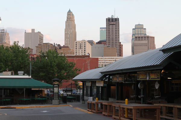 Downtown Kansas City view from the City Market. [Photo by Claus Wawrzinek.]