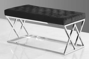 Ava Stainless Steel Bench/ Ottoman